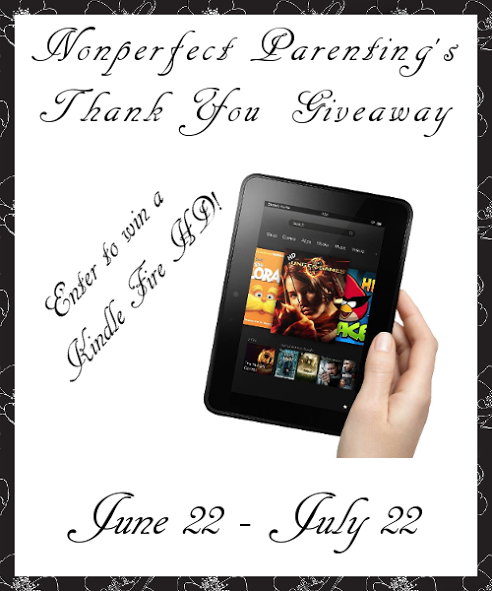 Nonperfect Parenting's Kindle HD #Giveaway