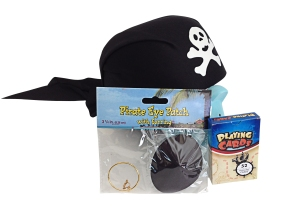 Adult Pirate Card Playing hat and eye patch
