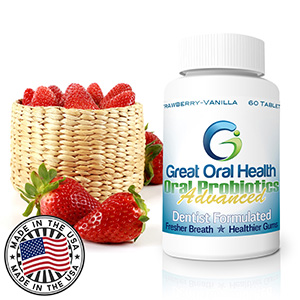 #1 Dentist Recommended Oral Probiotic Supplement: Effective Halitosis and Gum Disease Treatment. Free Shipping for Amazon Prime members. ALL NATURAL INGREDIENTS–GLUTEN AND LACTOSE FREE. Potent blend of beneficial bacteria, including Lactobacillus, Streptococcus | BLIS K12 and M18. Bad Breath remedy, tooth decay cure, gum disease, best probiotics